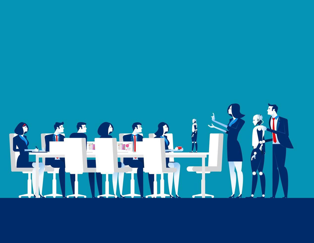 reunião de pessoas de negócios vetor