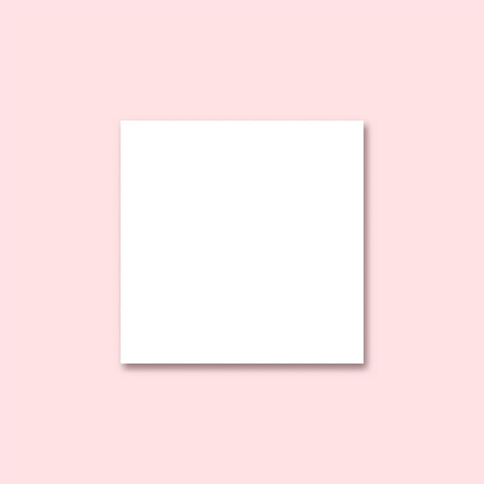 papel em branco branco com sombra rosa vetor