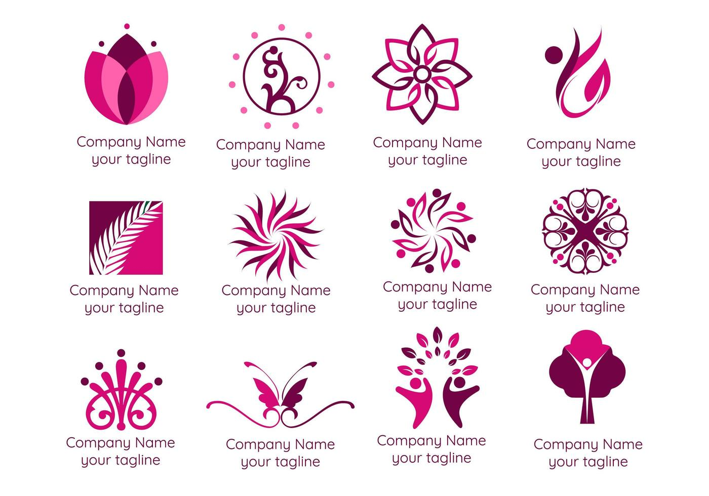 Spa and Therapy Logos vector