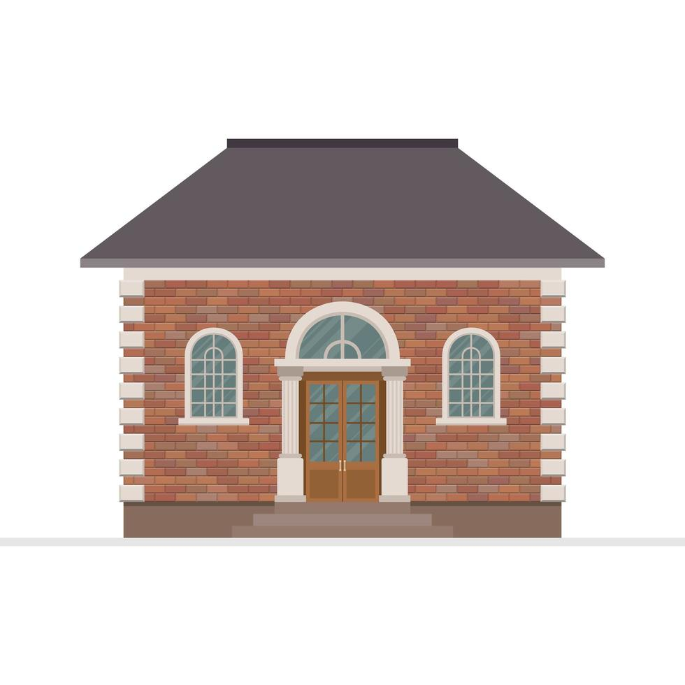 House building isolated  vector