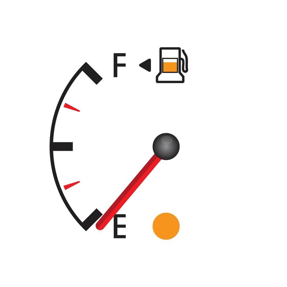 Fuel gauge isolated vector