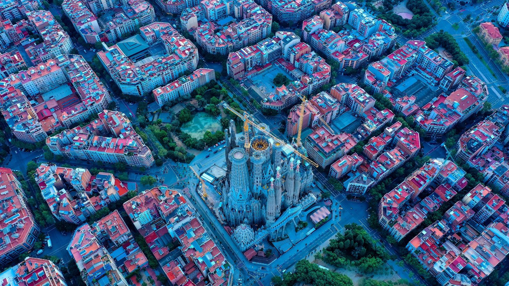 Aerial view of Barcelona photo