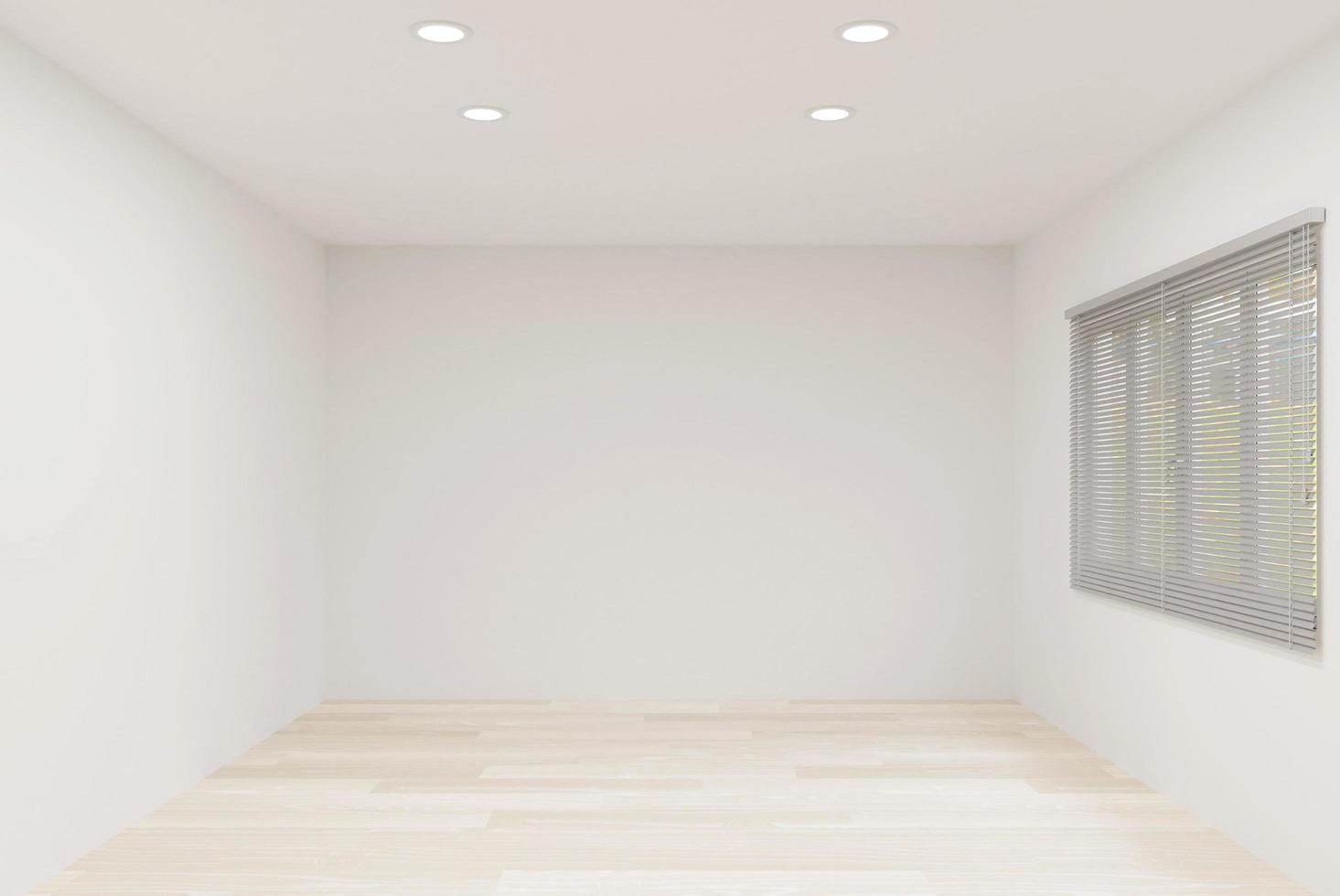 Empty illuminated room  photo