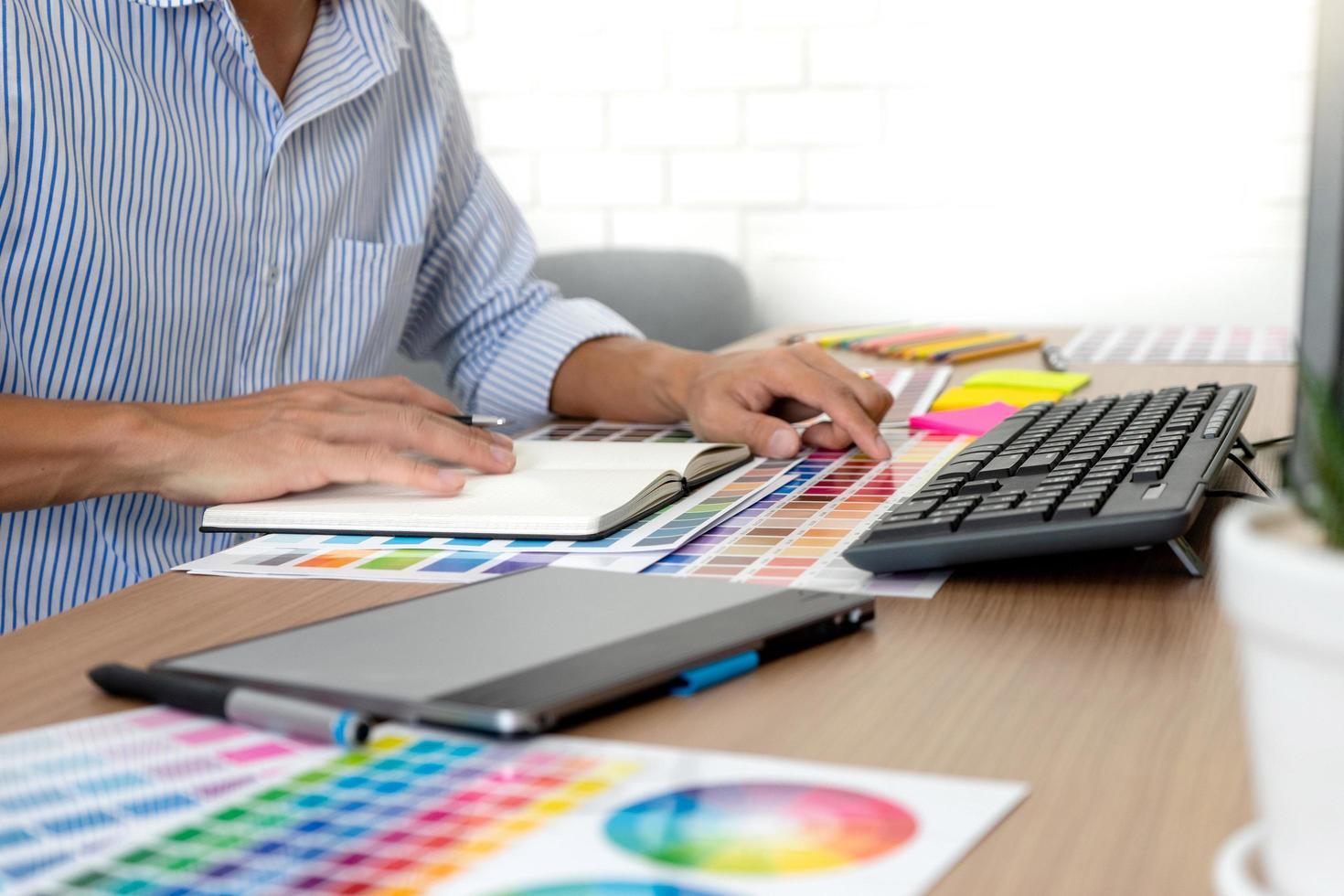 Graphic designer at work photo