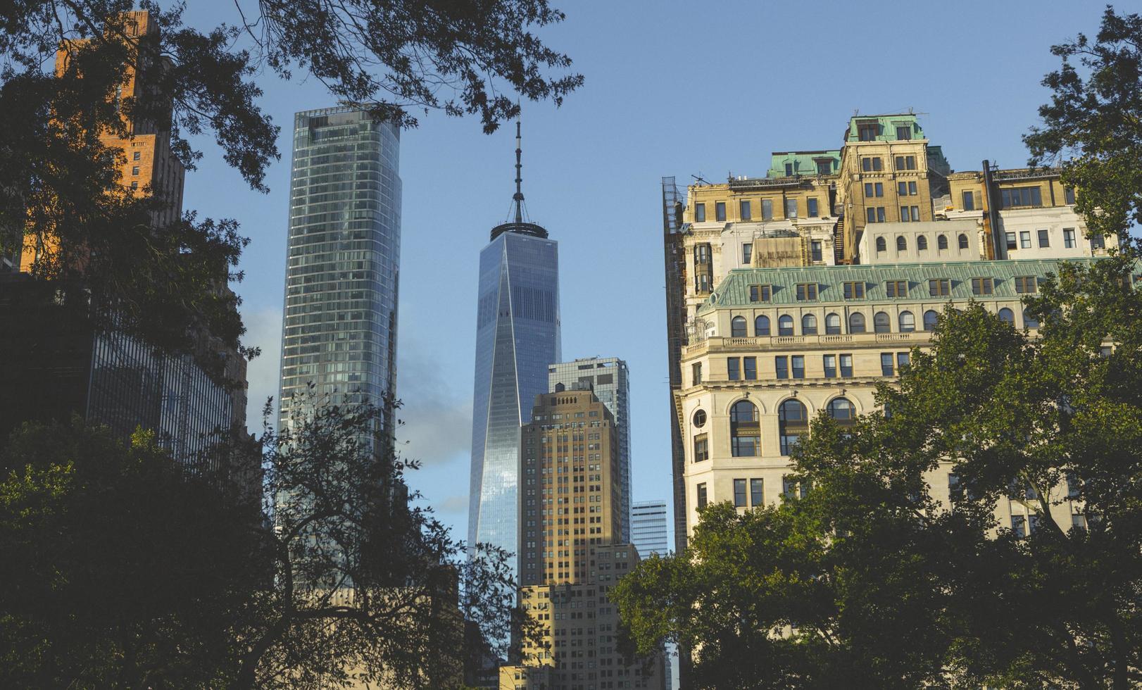 edificios de gran altura en manhattan foto