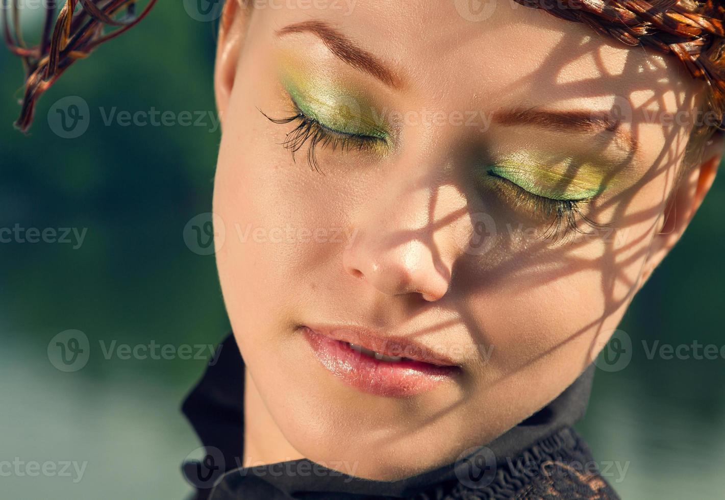 Luxury styled beauty lady portrait photo