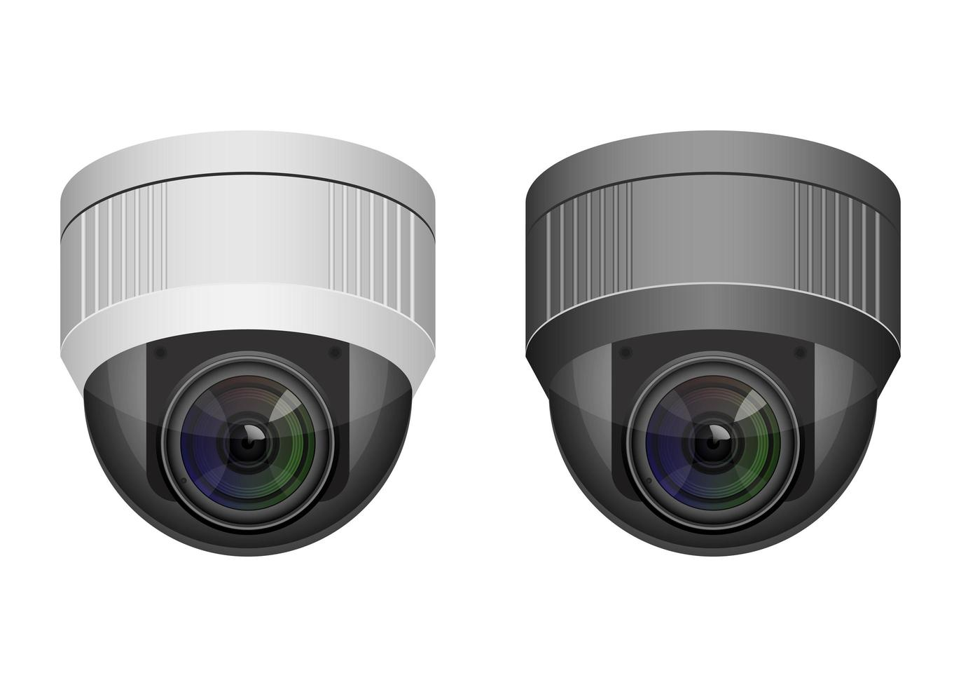 Surveillance cameras isolated vector