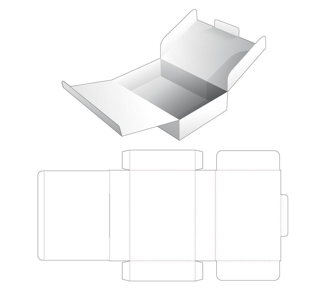 2 flip cardboard cake box vector