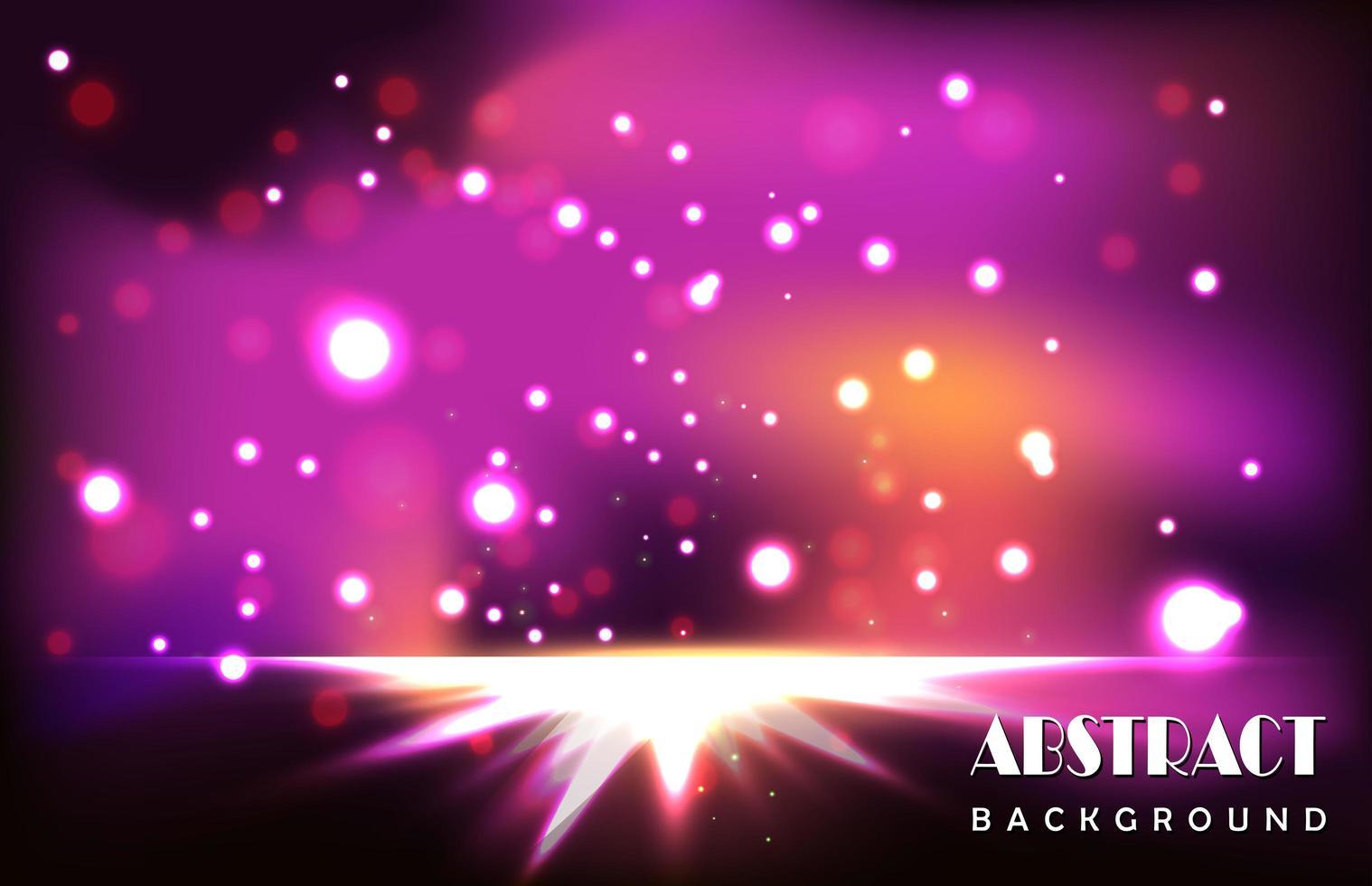 partículas de luz púrpura abstracta vector