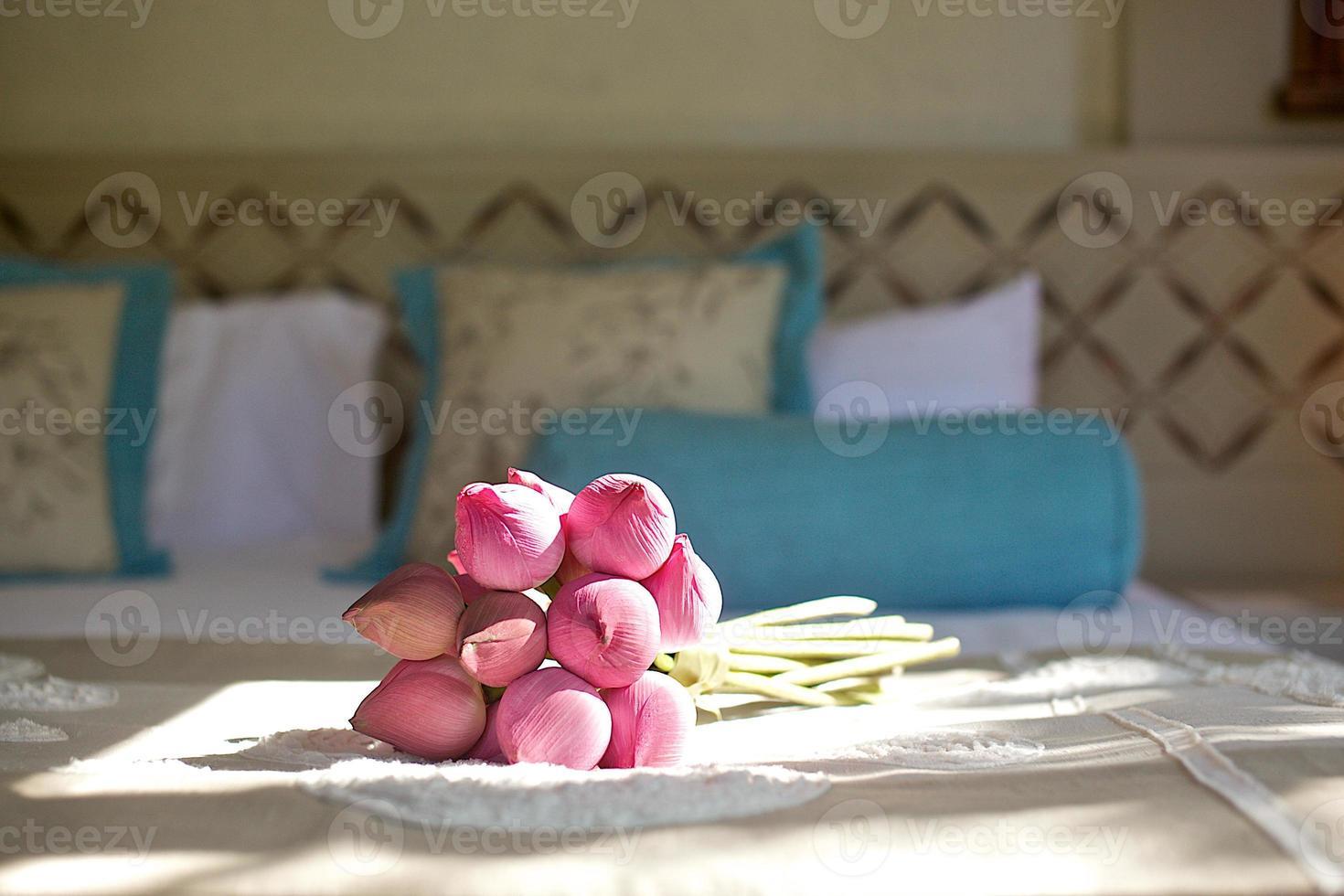 the bueatiful wedding bouquet of fresh flower photo