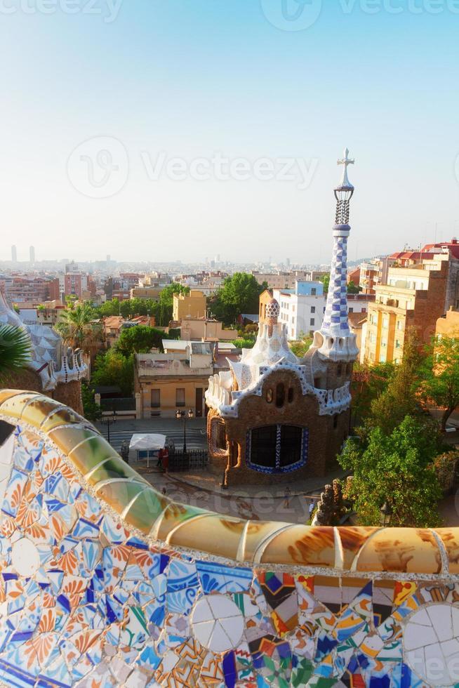 parque güell, barcelona foto