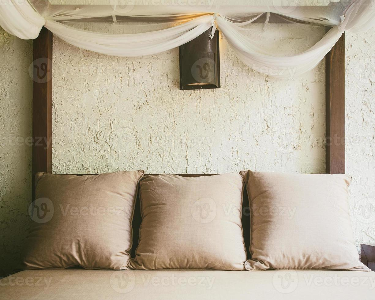 Bed and pillows, Home Interior decoration photo
