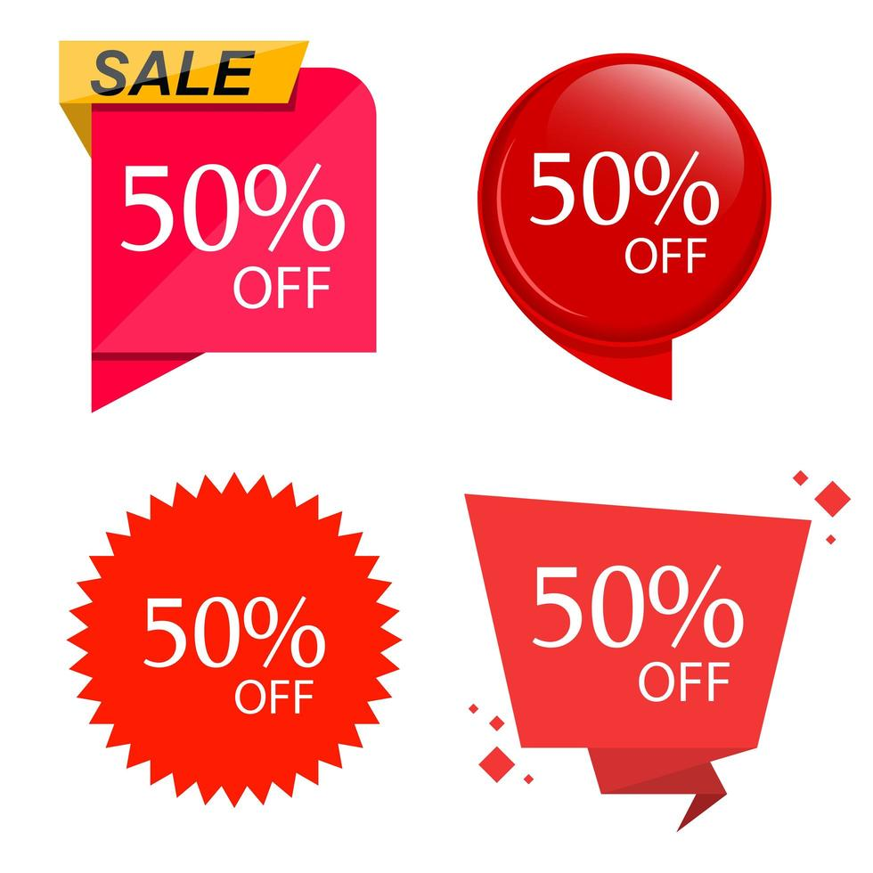 Special sale discount sticker  set vector
