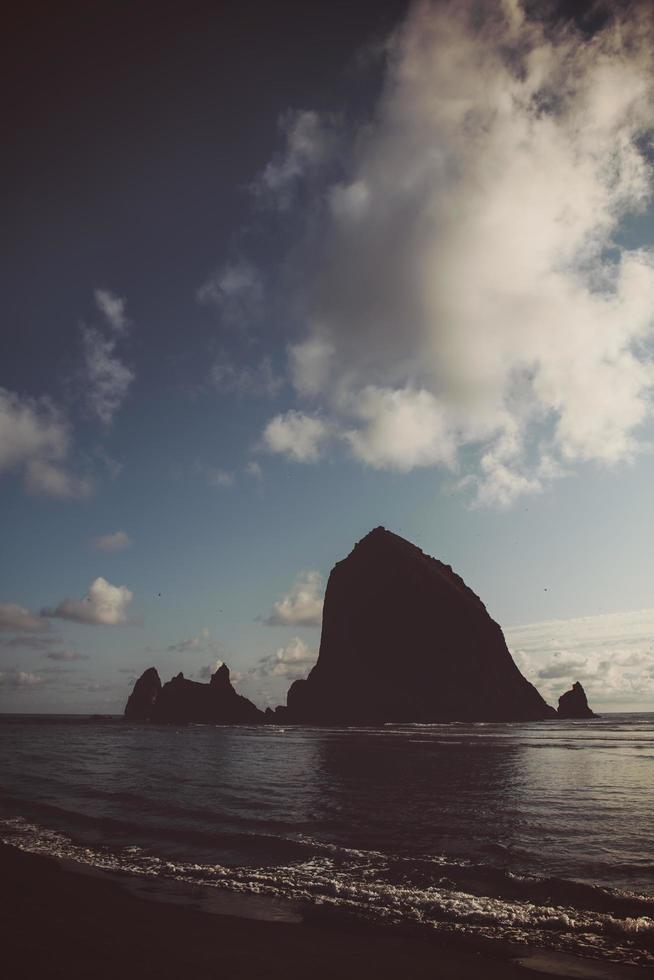 Silhouette of ocean monolith  photo