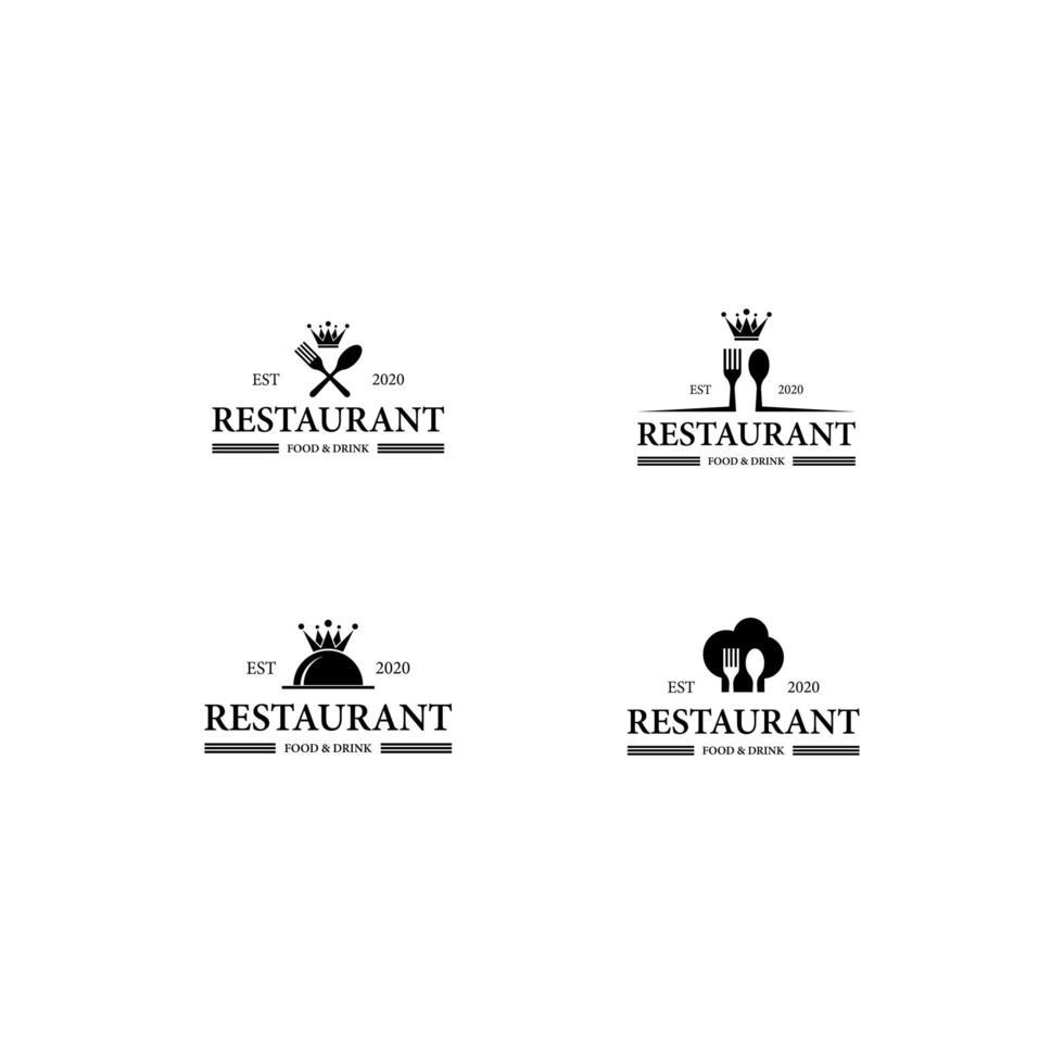 Restaurant logo icon set vector