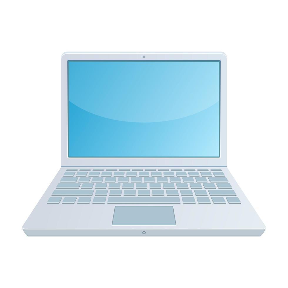 portátil abierto aislado vector