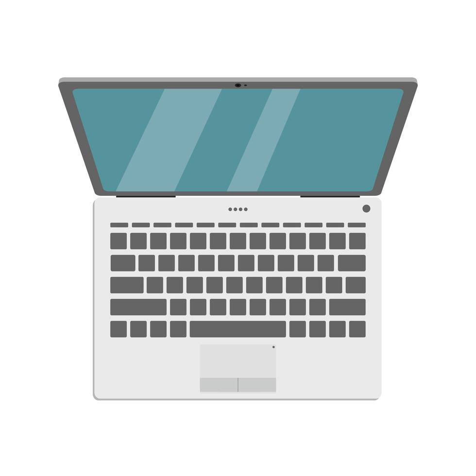 portátil aislado en blanco vector