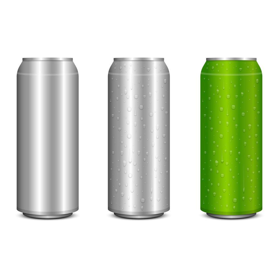 Realistic metal soda can vector