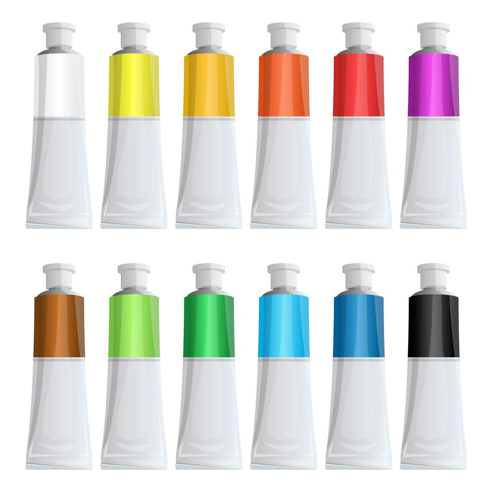 Paint tubes for painting  vector