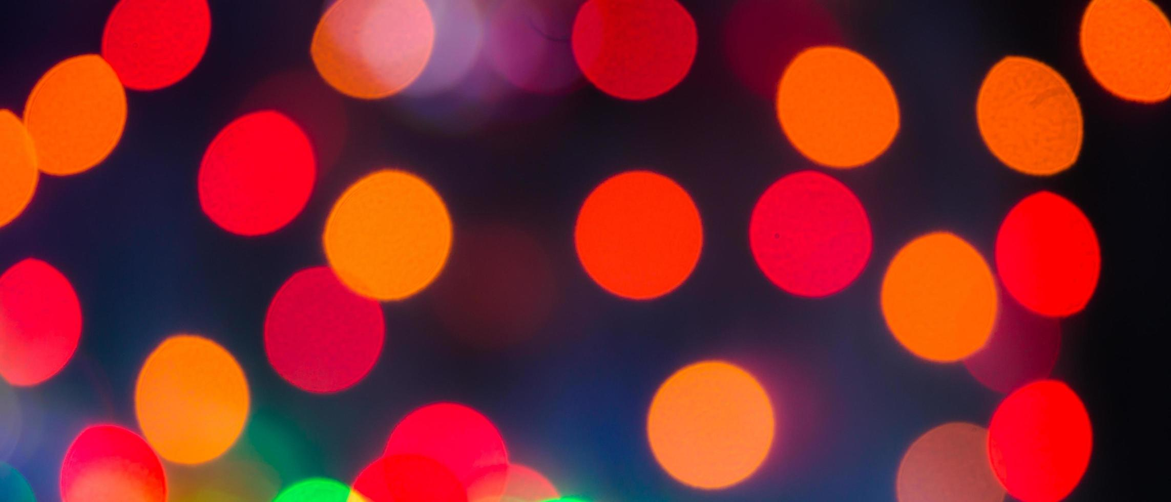 Colorful red and orange bokeh photo