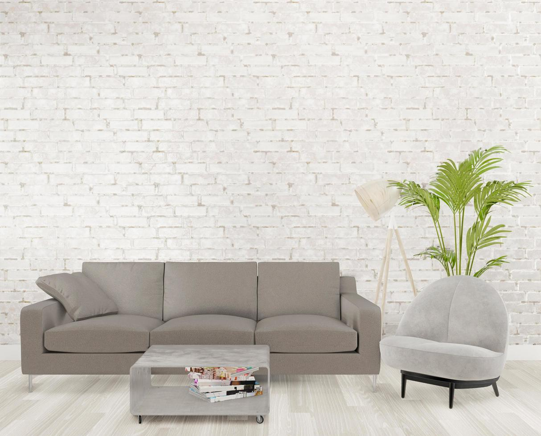Sala de estar loft 3d foto
