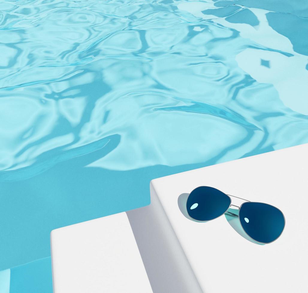 Illustrative swimming pool background  photo