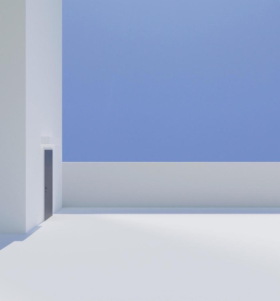 White building minimal style  photo