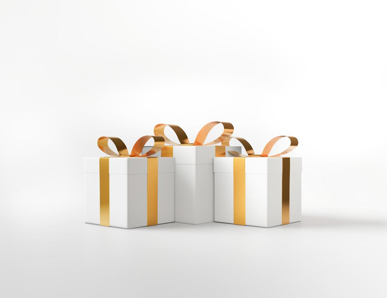 3D white square gift boxes  photo
