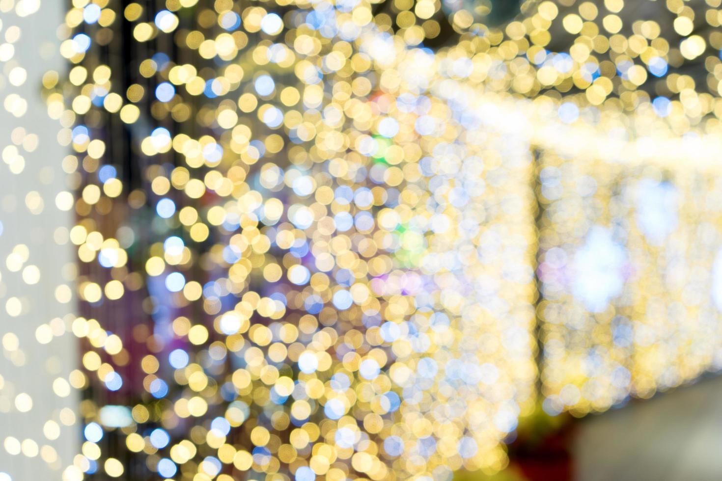 Bokeh holiday lights at night photo