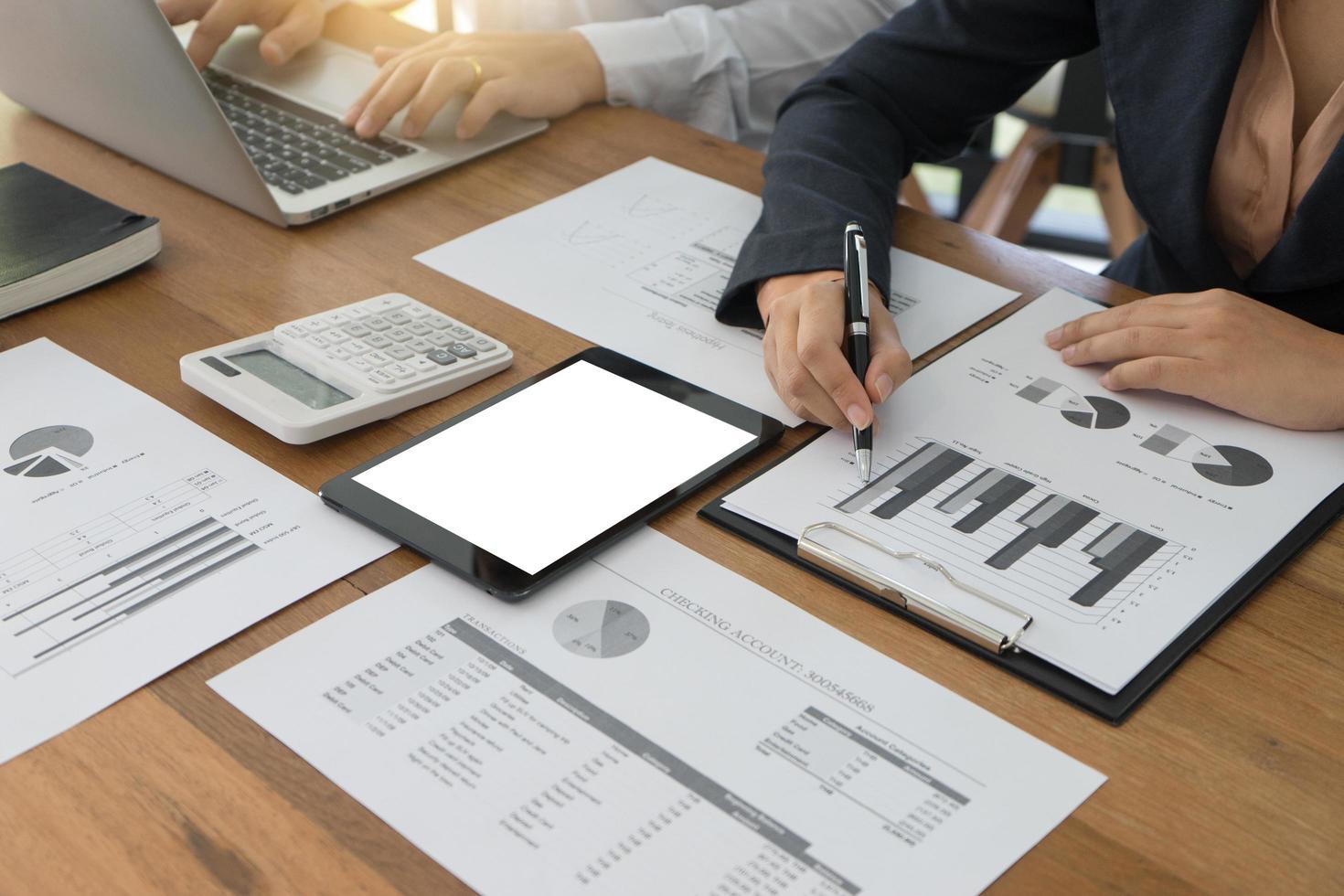 Business tablet mockup photo