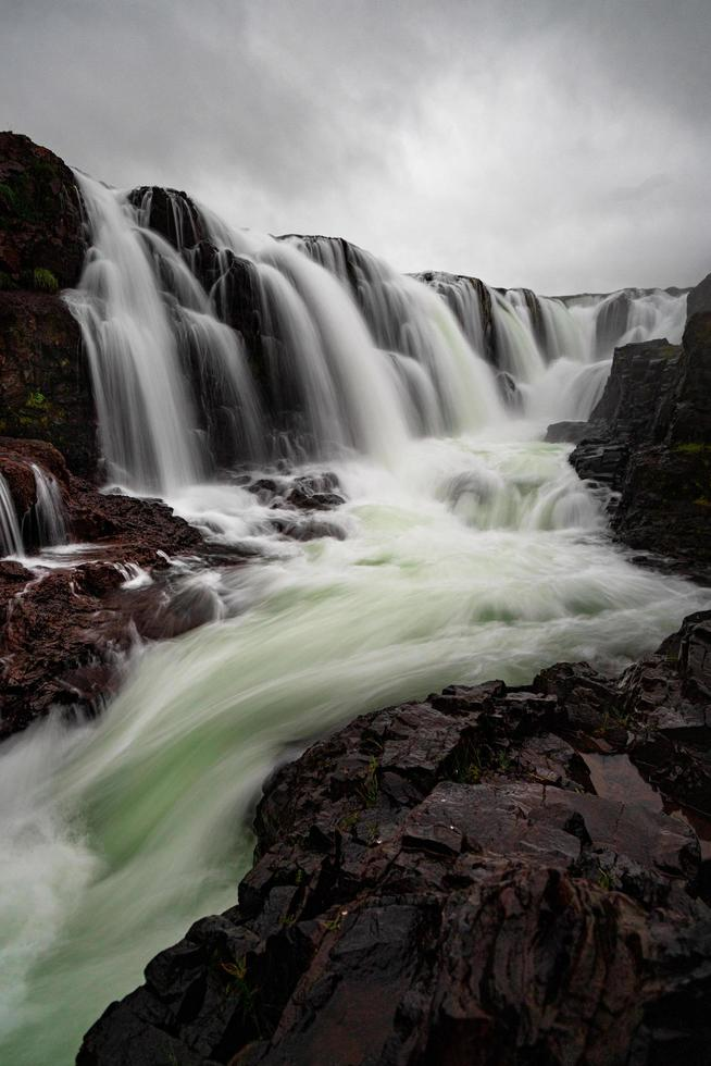 Majestic waterfall in Iceland photo