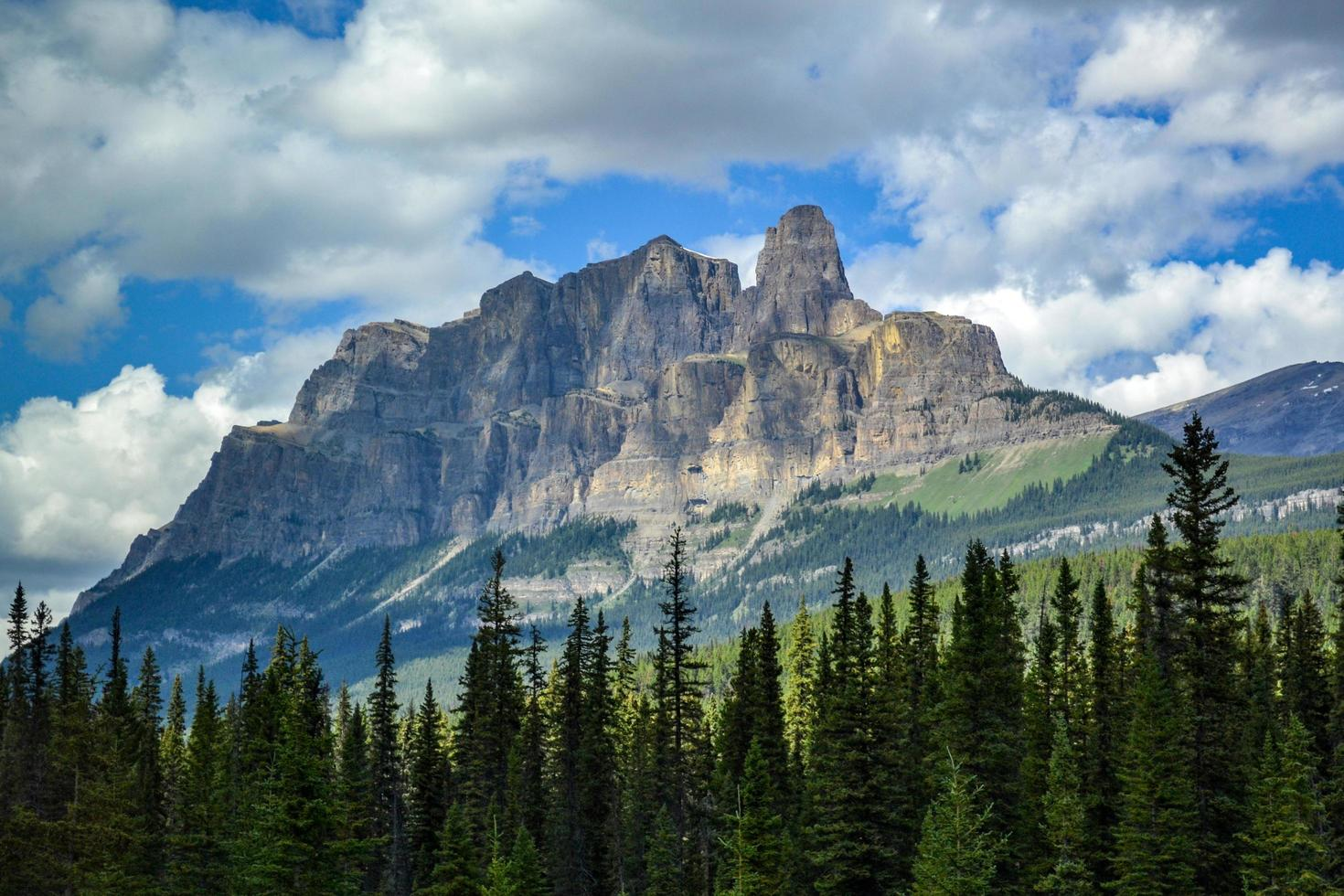 Majestic mountain in Canadian Rockies photo