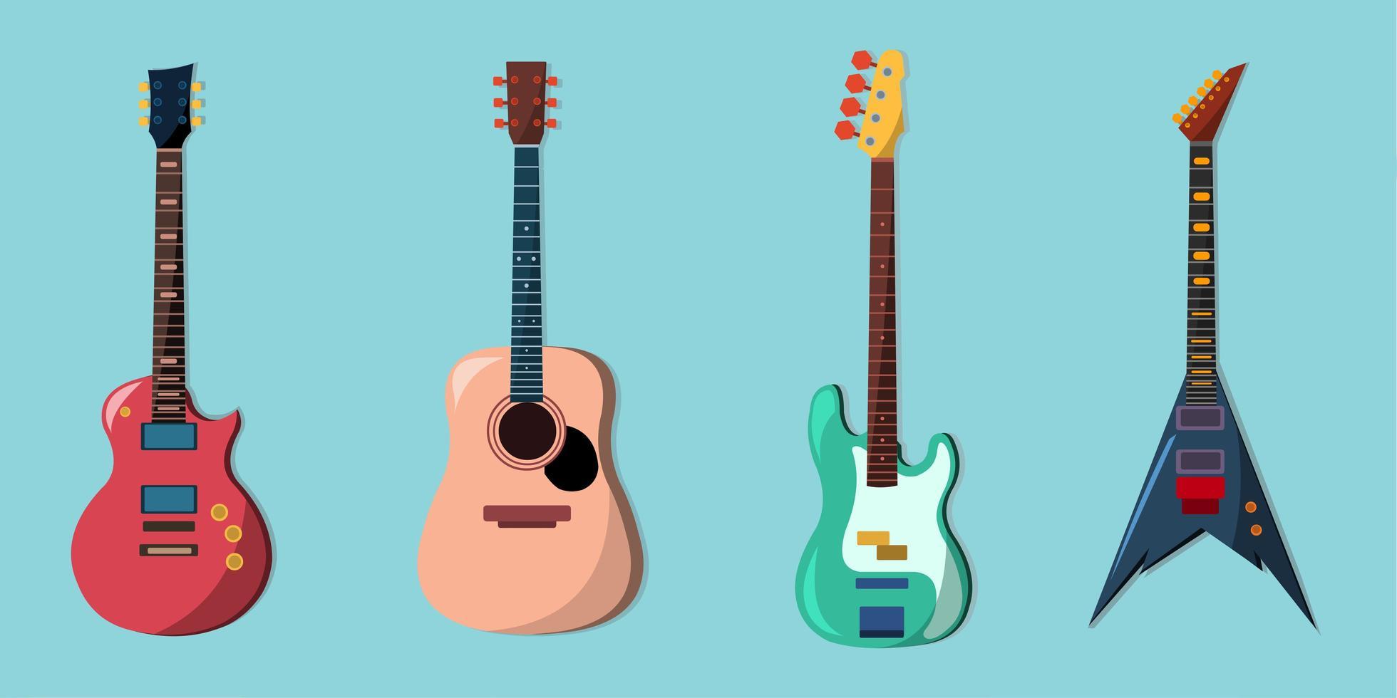 Music instrument set vector