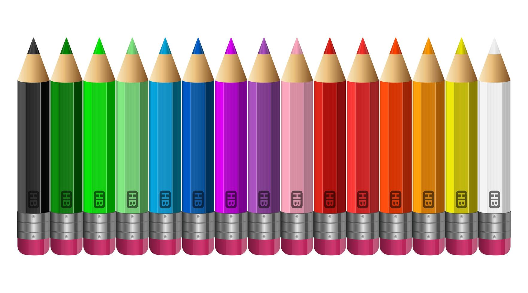 Colored pencils isolated  vector