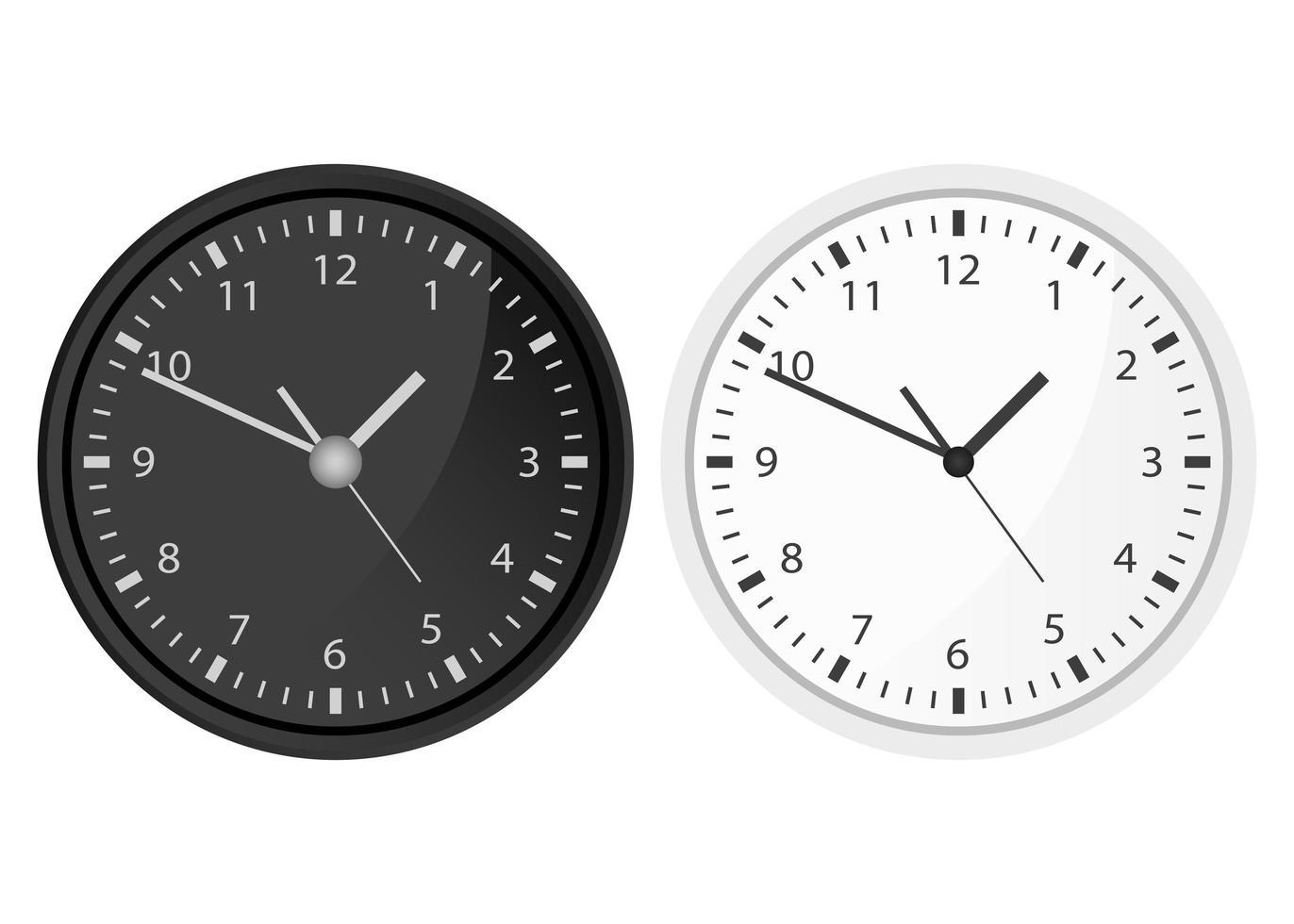 conjunto de relojes aislados vector