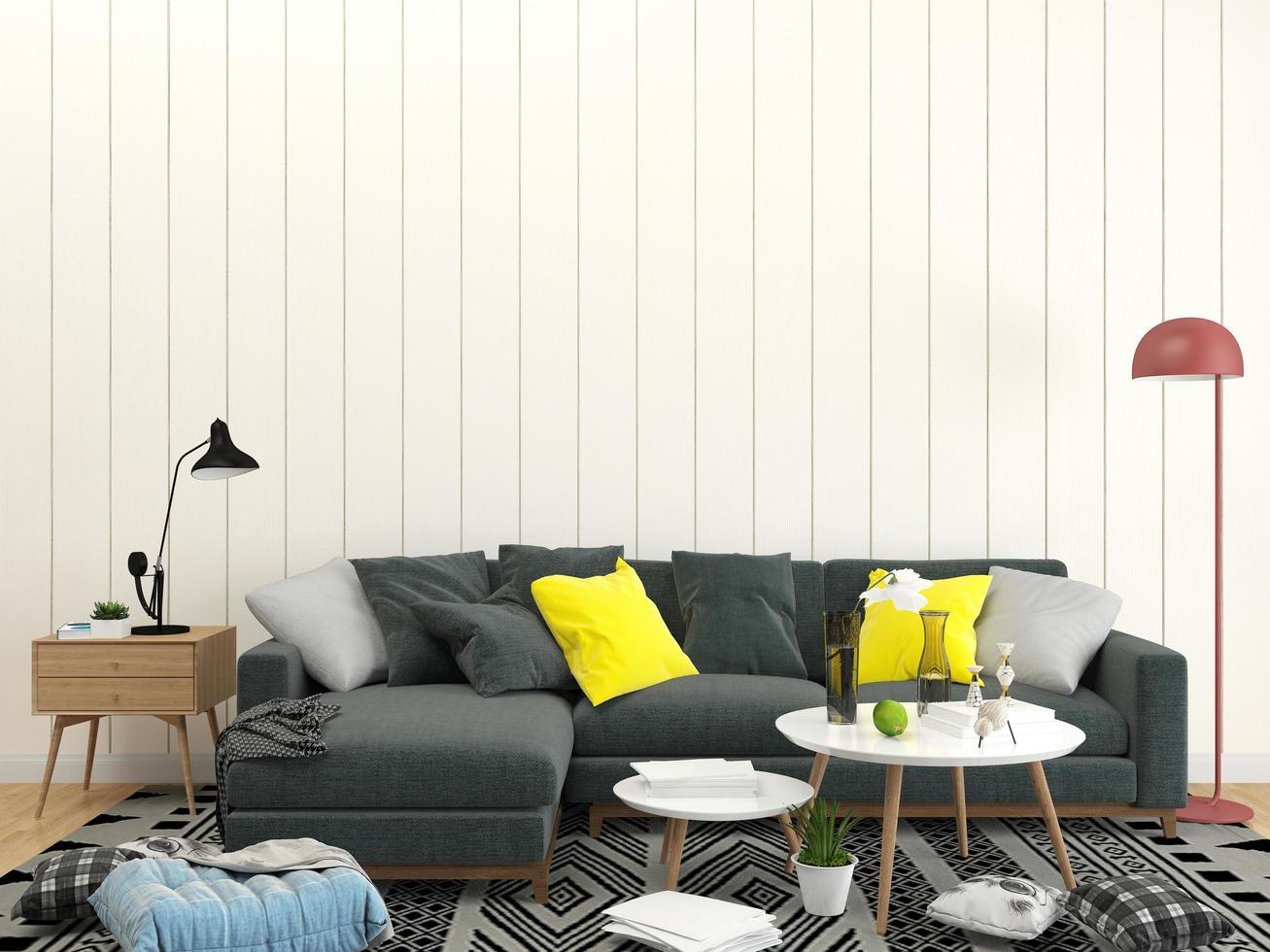 sofá seccional en la sala de estar foto