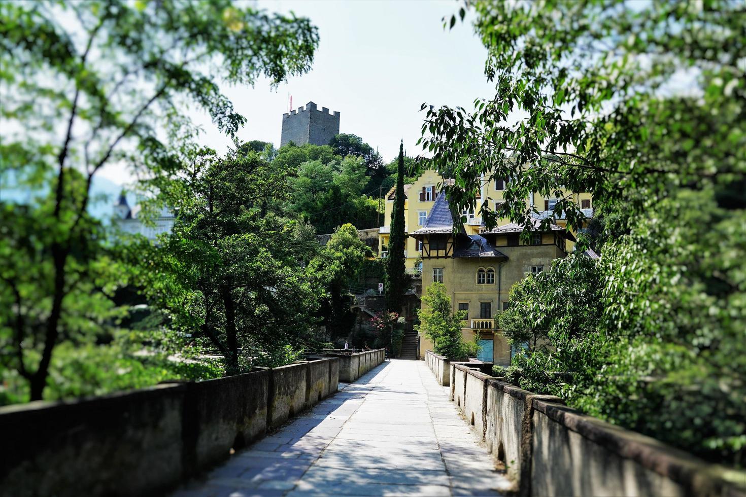 Stone bridge in Meran photo