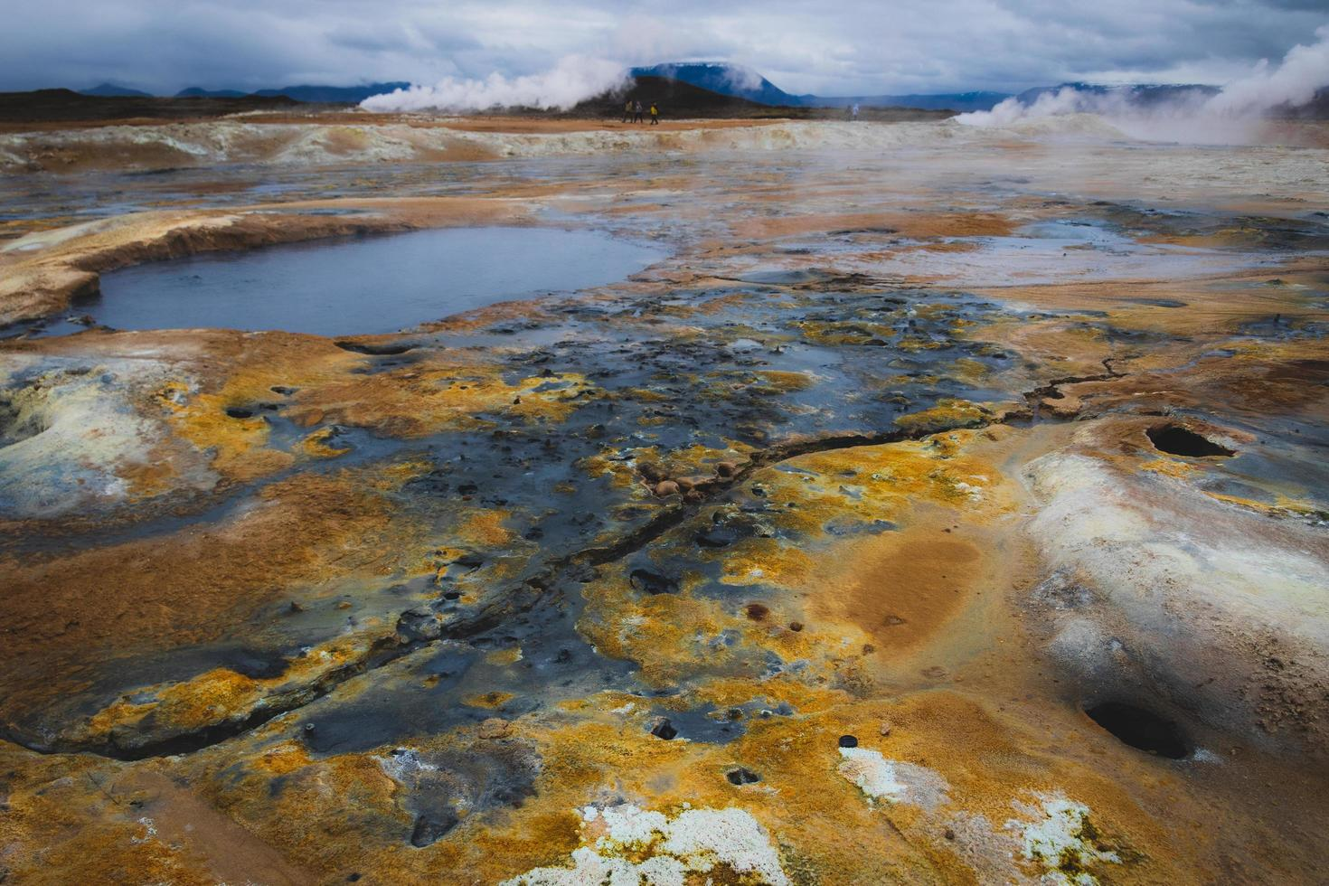 Toxic landscape in Iceland photo