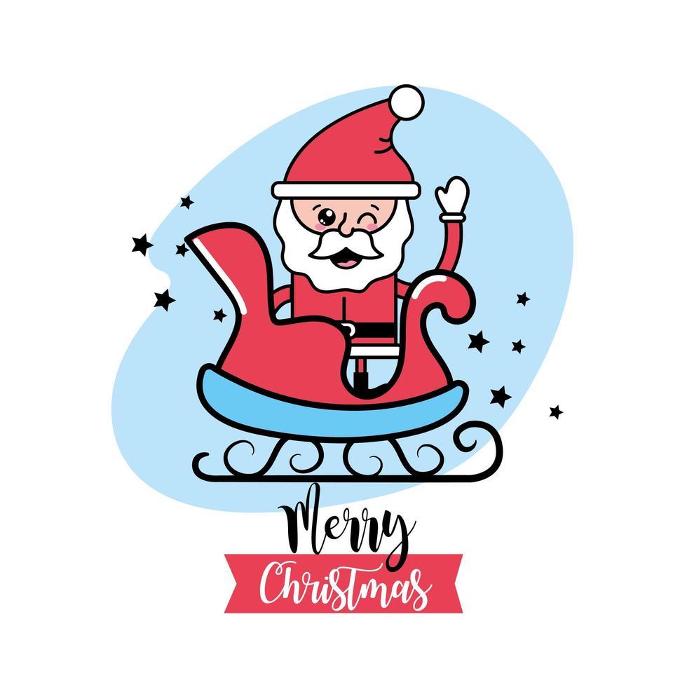Christmas, Santa Claus greeting card vector