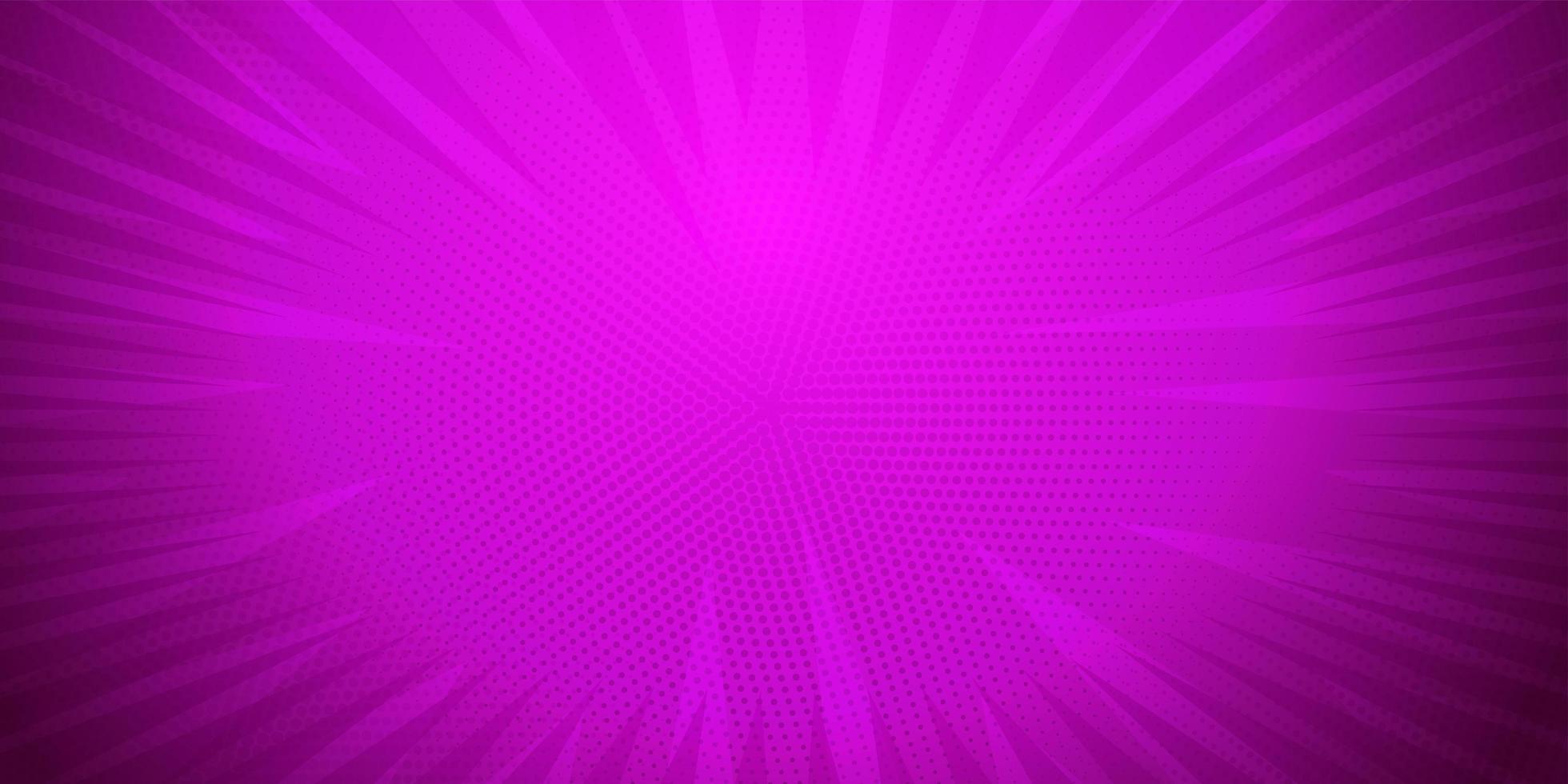 Purple color, Comic book pop art strip radial backdrop vector