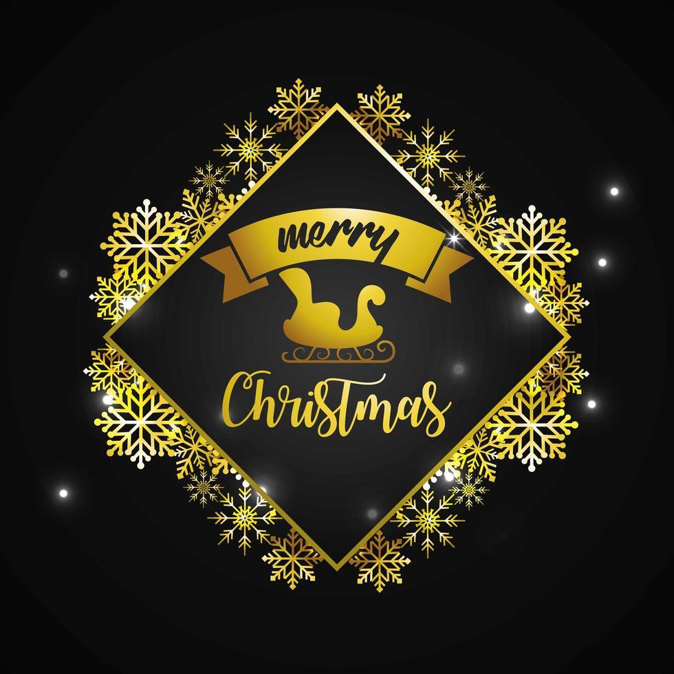 cartel de feliz navidad vector