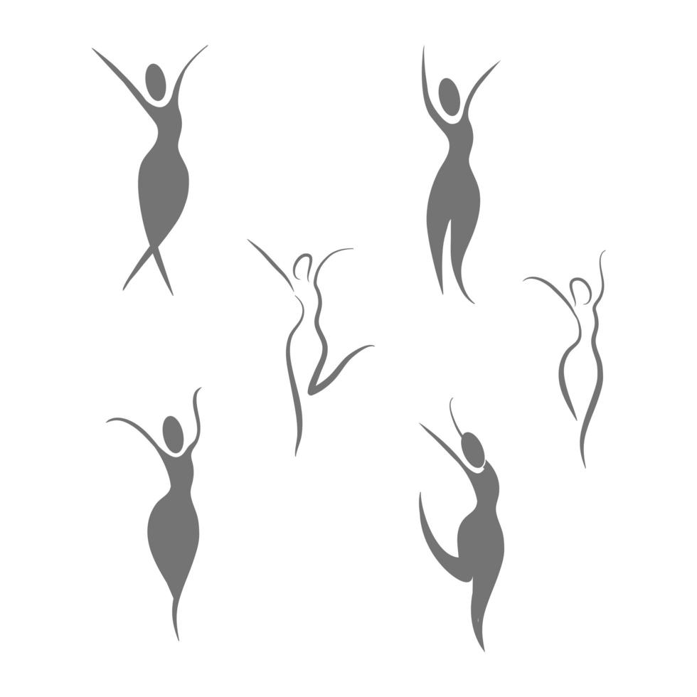 Set of wellness women icons vector
