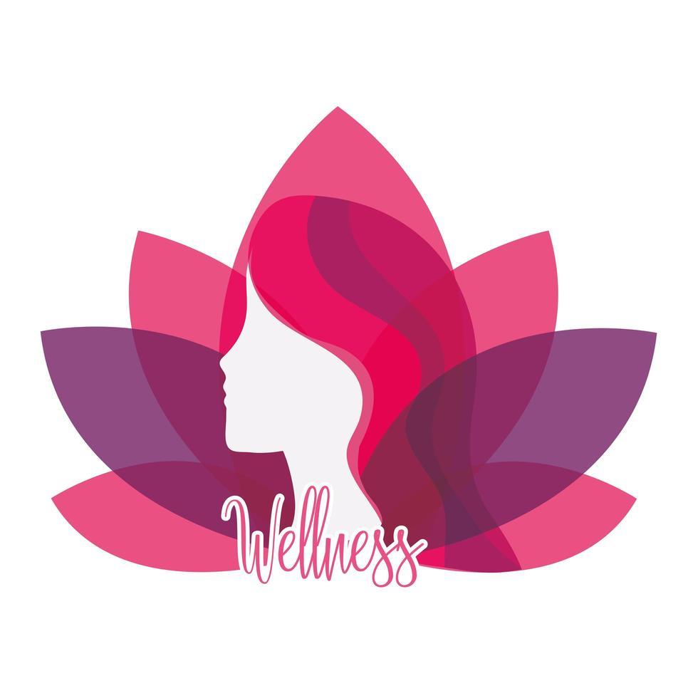 Wellness lifestyle icon vector