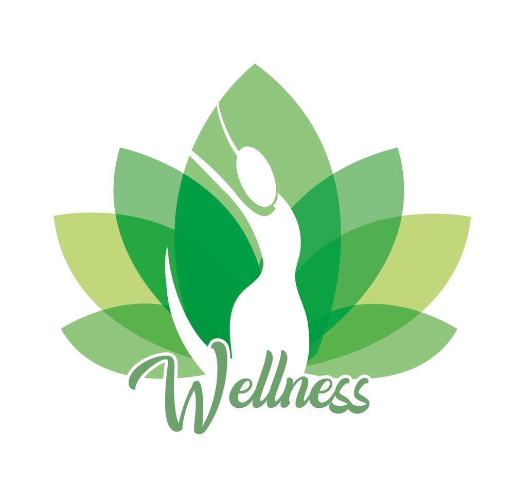 Wellness and therapy woman icon vector