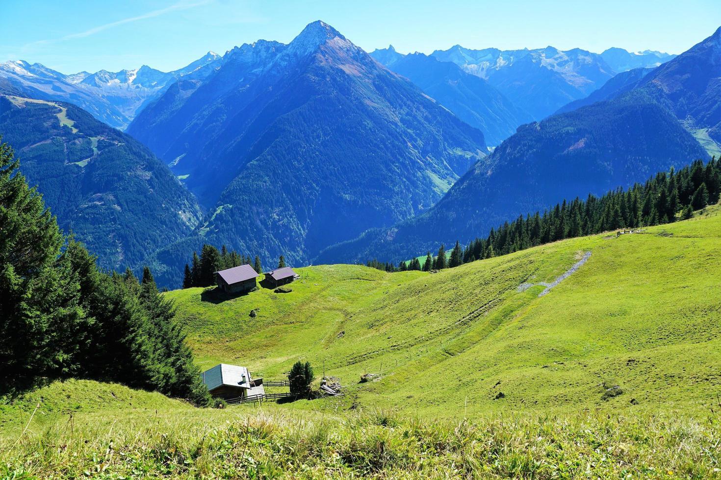 paisaje de verano en los alpes foto