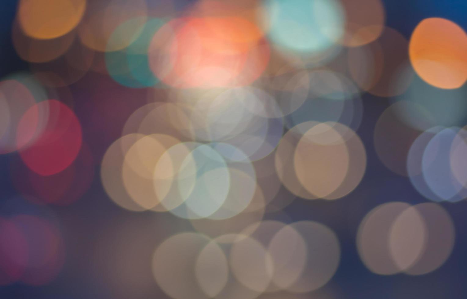 Abstract bokeh lights photo