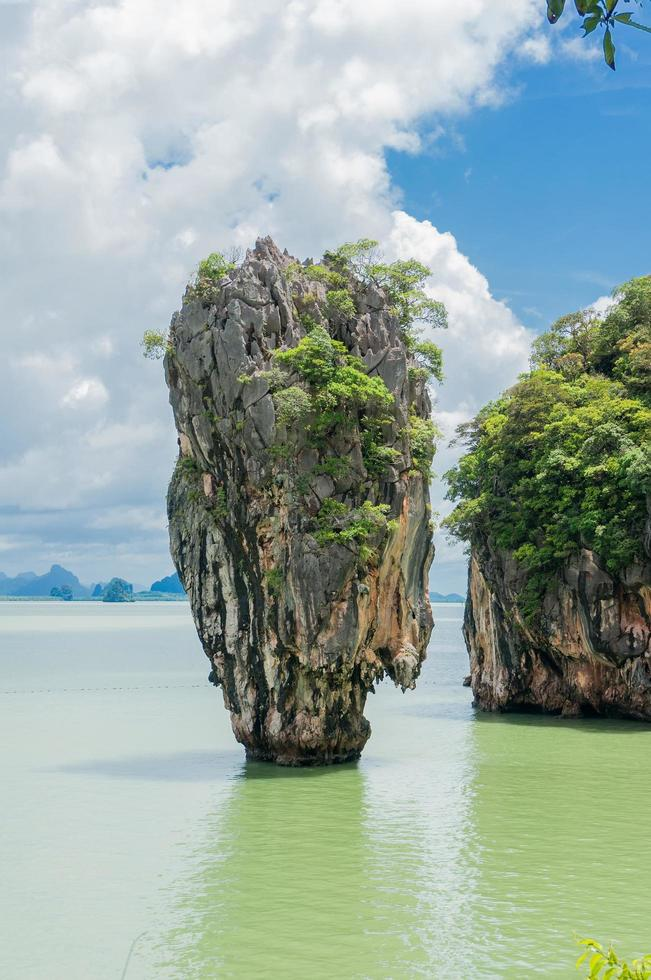 Limestone cliff, Phang Nga Bay photo