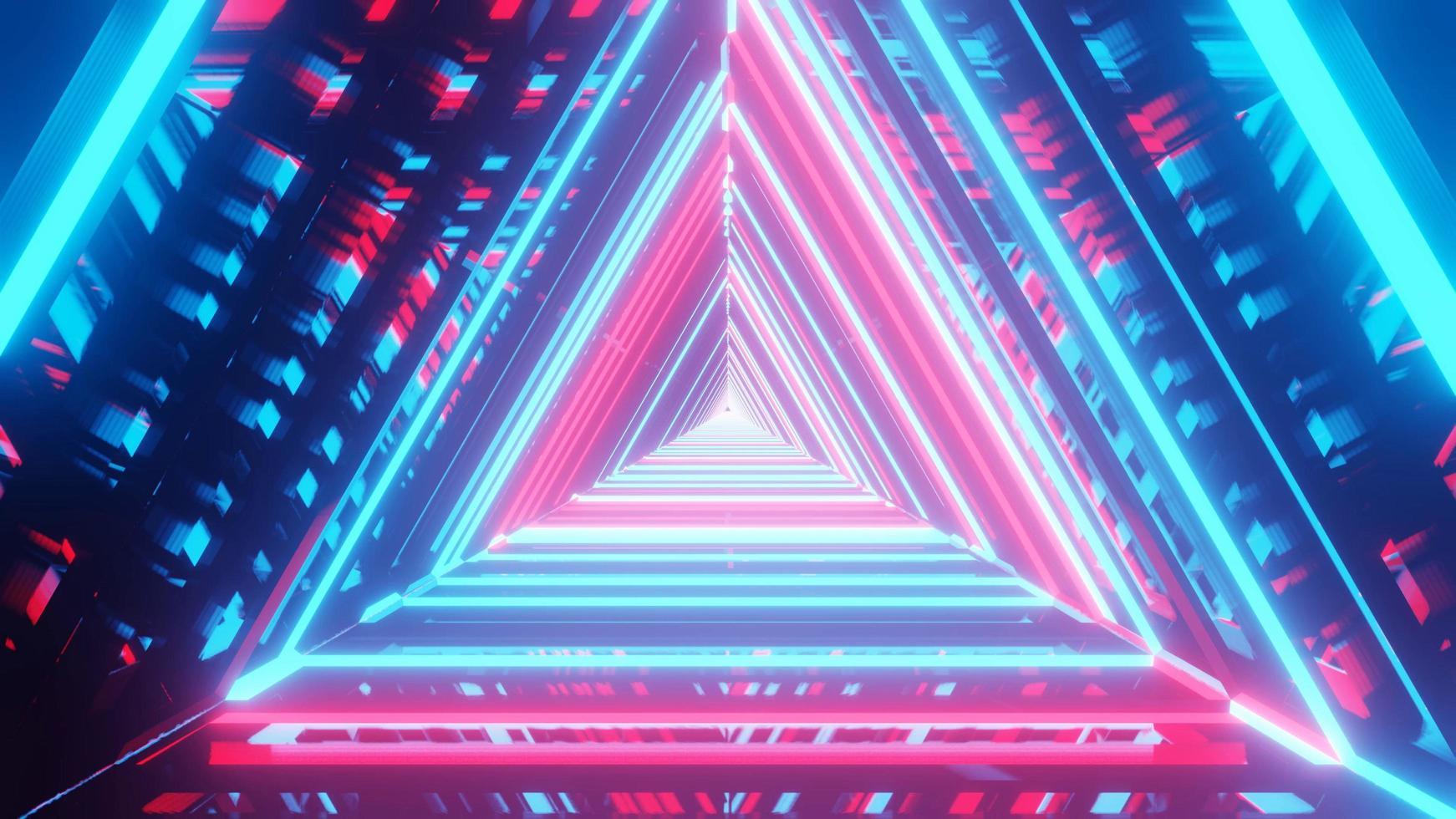 Ilustración 3d del espectro de brillo reflectante foto