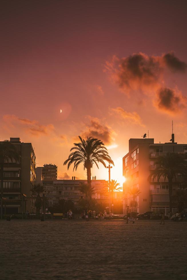 Golden hour sunset photo