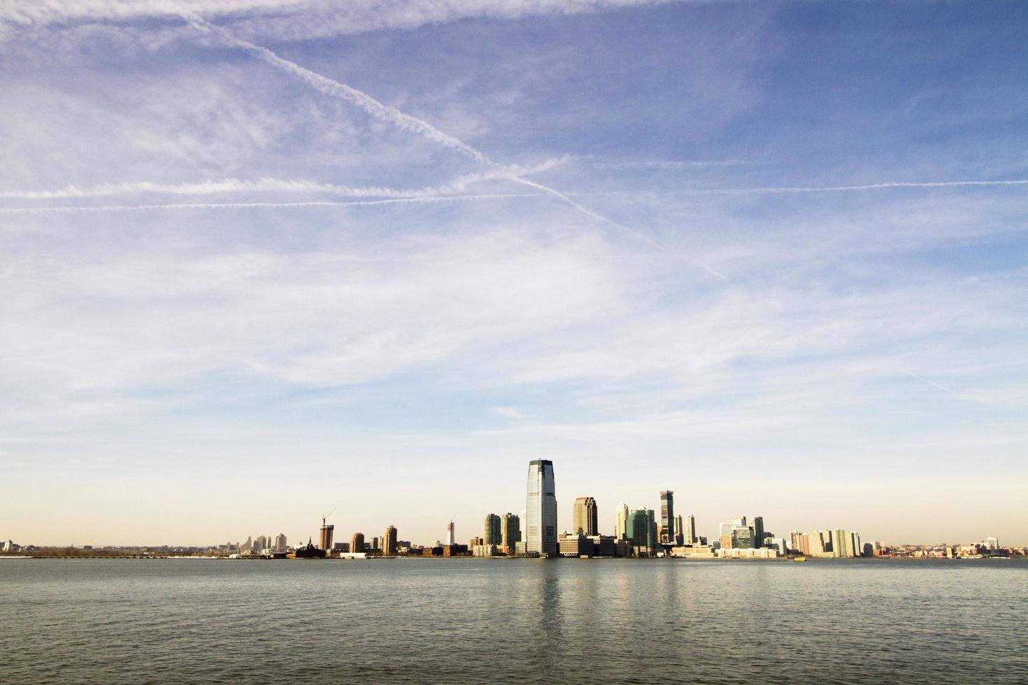 New York skyline at sunset photo